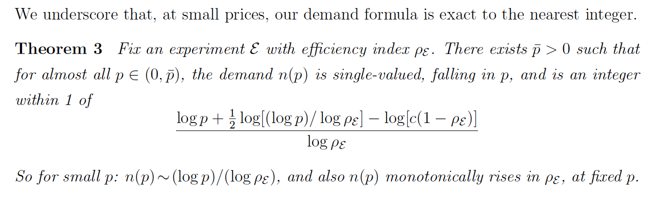 The Demand for Lots of Information is Logarithmic